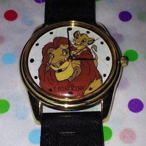 TIMEX DISNEY'S LION KING BLACK LEATHER STRAP WATCH